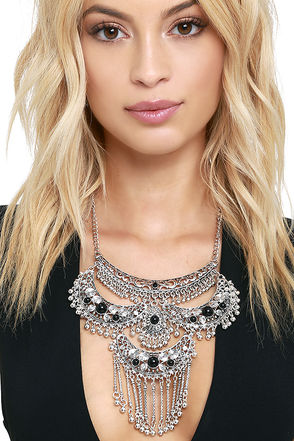 Time is Now Silver Statement Necklace at Lulus.com!