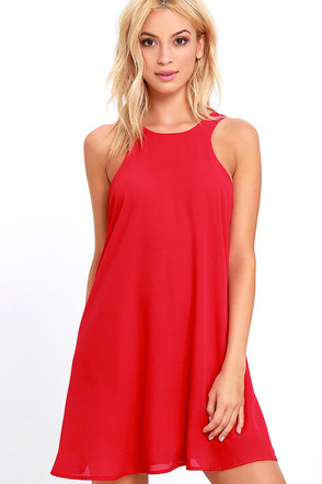 Lucy Love Charlie Red Shift Dress at Lulus.com!