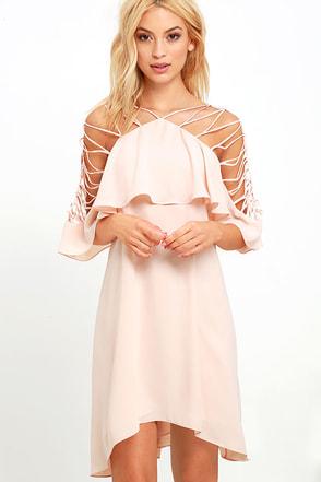 Magic Technique Blush Shift Dress at Lulus.com!
