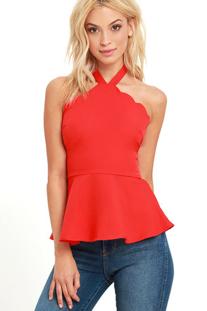 All Pepped Up Blush Peplum Top at Lulus.com!