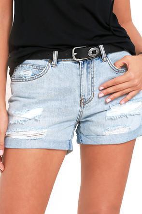 Billabong Frankie Light Wash Distressed Denim Shorts at Lulus.com!