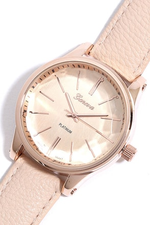 Infinity and Beyond Rose Gold and Beige Watch at Lulus.com!