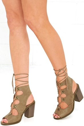Terms and Conditions Natural Suede Lace-Up Booties at Lulus.com!