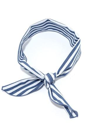 Sailing at Sunrise Blue and White Striped Bandana at Lulus.com!