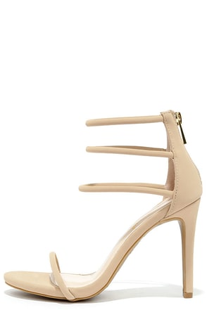 Love This Nude Nubuck Dress Sandals at Lulus.com!