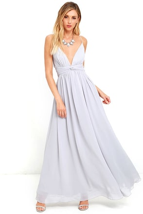 Evening Dream Light Grey Maxi Dress at Lulus.com!