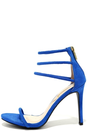 Love This Blue Nubuck Dress Sandals at Lulus.com!