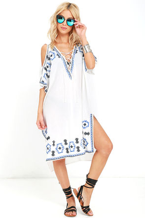 Strike a Chord Ivory Embroidered Cover-Up at Lulus.com!