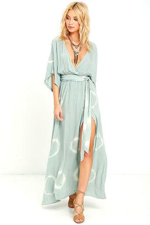 Long Live Love Sage Green Tie-Dye Maxi Dress at Lulus.com!