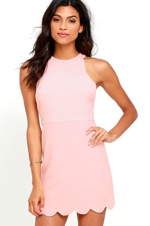Favorite Feeling Peach Dress at Lulus.com!