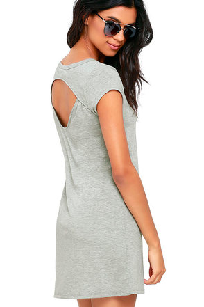 Billabong Moon Shadow Heather Grey Shift Dress at Lulus.com!