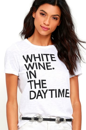 Chaser Wine Daytime Ivory Tee at Lulus.com!