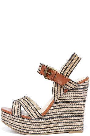 MIA Francis White Natural Rope Platform Wedges at Lulus.com!