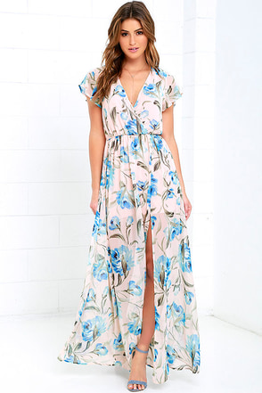 Where Wildflowers Grow Peach Print Maxi Dress at Lulus.com!