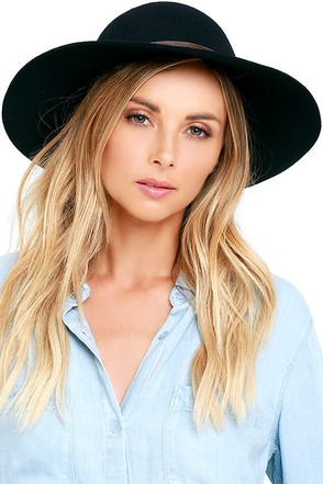 Billabong Lovely Dream Black Floppy Hat at Lulus.com!