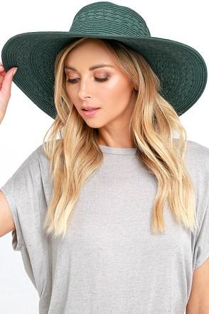 Billabong Paloma Sage Green Straw Hat at Lulus.com!