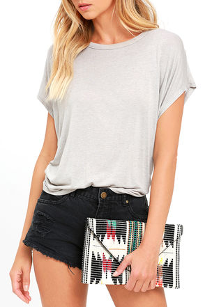 New Stories Cream Embroidered Clutch at Lulus.com!