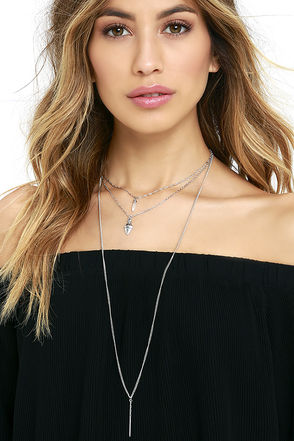 Brief Spell Silver Layered Necklace at Lulus.com!