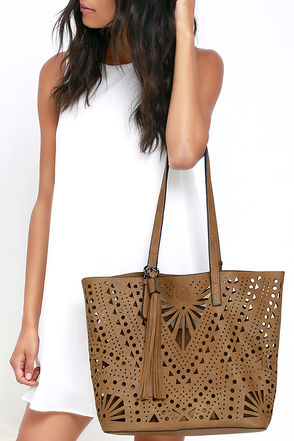 Party Flavor Tan Tote at Lulus.com!