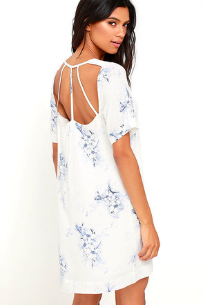 Gentle Fawn Outlines Ivory Floral Print Shift Dress at Lulus.com!