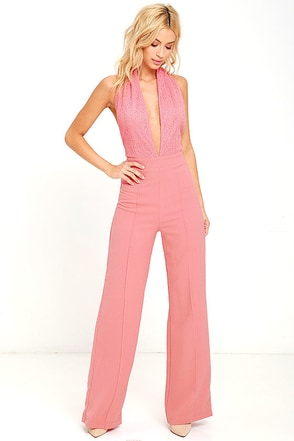 Keep Playing That Song Dark Green Halter Jumpsuit at Lulus.com!