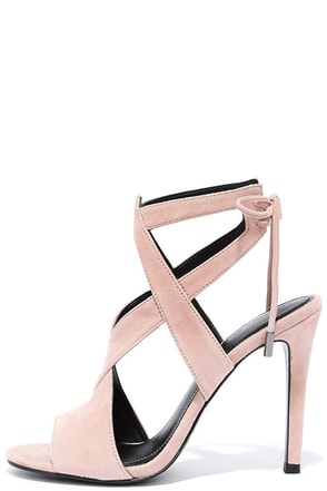 Kendall + Kylie Eston2 Black Suede Leather Caged Heels at Lulus.com!