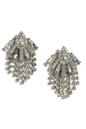 All a Daydream Gold Rhinestone Earrings at Lulus.com!