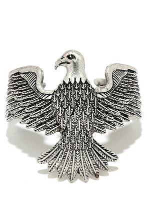 Bird of Prey Silver Cuff Bracelet at Lulus.com!