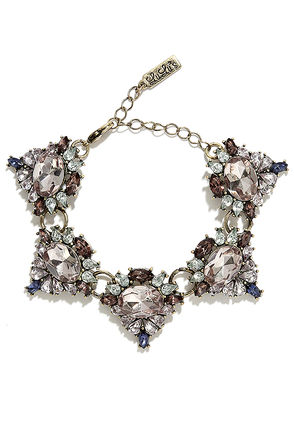 Recollection Pale Blush Rhinestone Bracelet at Lulus.com!