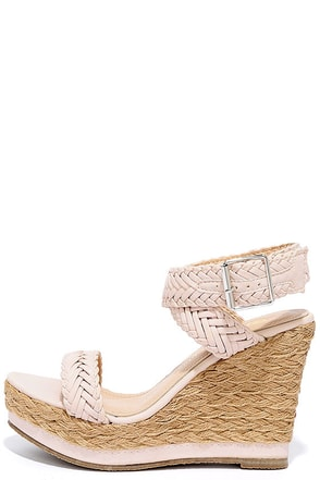 Ship Mates Nude Platform Wedges at Lulus.com!