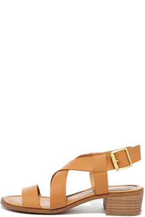 Madden Girl Tulum Cognac Heeled Sandals at Lulus.com!