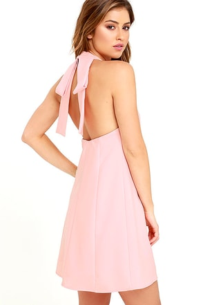 Viva La Vida Blush Pink Backless Swing Dress at Lulus.com!