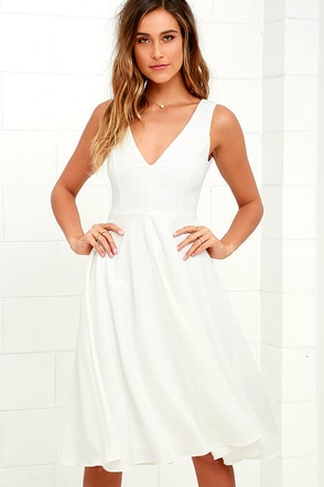 Of My Dreams Ivory Midi Dress at Lulus.com!