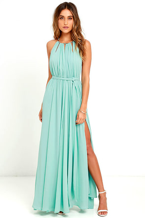 Gleam and Glide Sage Green Maxi Dress at Lulus.com!