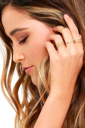 Girls Night Out Gold Ring Set 1