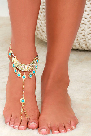 Prance If You Want To Gold Foot Bracelet at Lulus.com!
