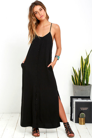 Friday I'm in Love Black Maxi Dress at Lulus.com!