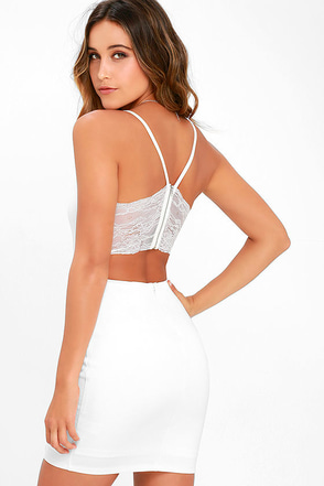 Heartbeat Song Ivory Backless Lace Dress at Lulus.com!