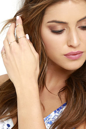 Intricate Insight Gold Ring Set at Lulus.com!