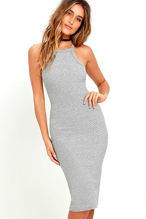 Billabong Warm Embrace Black and Ivory Bodycon Midi Dress at Lulus.com!
