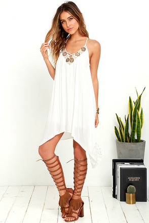Love Your Sway Ivory Lace Dress at Lulus.com!