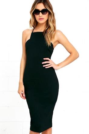 Elliatt Cheryl Black Bodycon Midi Dress at Lulus.com!
