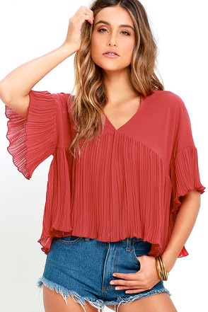 Love for You Blush Pink Pleated Top at Lulus.com!