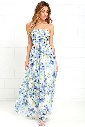 Pond Ripples Ivory Print Maxi Dress at Lulus.com!