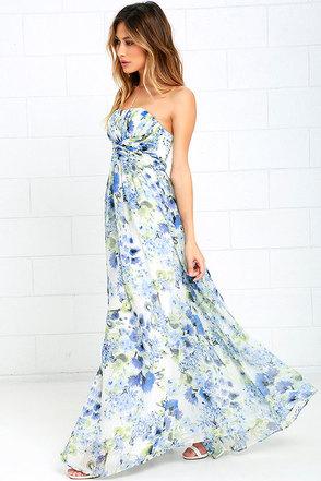 Pond Ripples Ivory Print Maxi Dress at Lulus.com!