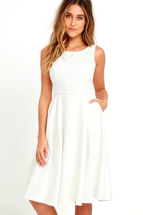 Sweetly Sung Ivory Midi Dress at Lulus.com!
