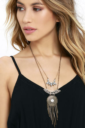Meditation Station Gold Layered Necklace at Lulus.com!