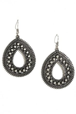 County Fair Silver Earrings at Lulus.com!