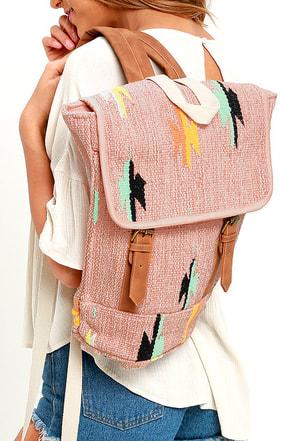 Billabong Sister Sunglow Mauve Print Backpack at Lulus.com!
