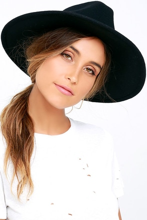 Billabong Daydream Black Fedora Hat at Lulus.com!